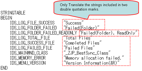 translate string table